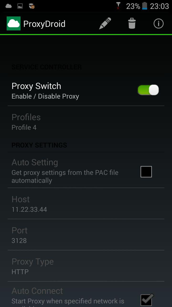 Setting up a proxy on Android: step by step instructions